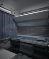 Compartment Coach - Day and Night - Blue